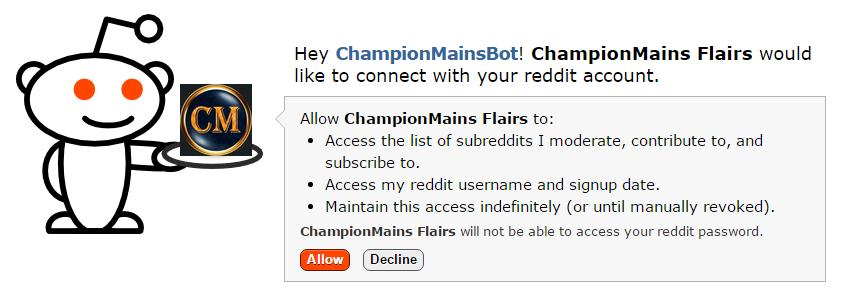 r/ChampionMains Flairs - Documentation